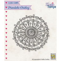 Nellies Choice Clearstamp Mandala - Paisley bloem 2 CSMAN010 64x64mm