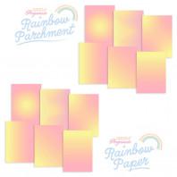 RAINBOW DUO - PARCHMENT & PAPER - LEMON SORBET SUNRISE A4