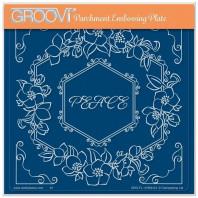 LINDA WILLIAMS' GROOVI CONTOURS - HELLEBORE HEXAGON FRAME - A5 SQUARE GROOVI PLATE 41994
