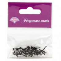 Pergamano Brads 3mm Pewter  40st