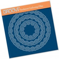 NESTED LACE FAN BORDER A5 SQUARE GROOVI PLATE 41431