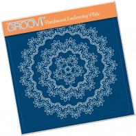 NESTED LACE FANCY SWIRLS BORDER A5 SQUARE GROOVI PLATE 41432