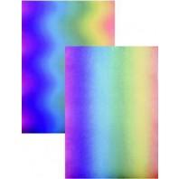 Perkamentpapier regenboog golven 61485