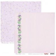 Scrapbookpapier dubbelzijdig, Iris Bloom