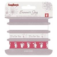 Setje lint Summer Joy rood 0523
