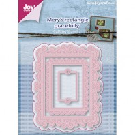 Joy! Die Mery's rectangle gracefully 3 st
