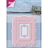 Joy! Die Mery's rectangle gracefully 3 st