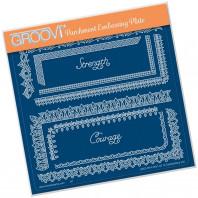 Groovi Plate A5 TINA'S SPIRITUAL STRENGTH BORDER 41631