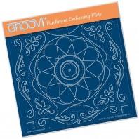 Groovi Plate A5 TINA'S EMBROIDERY FLOWERS