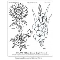 PCA EasyEmbossing Template Simply Flower 2 TP3147E