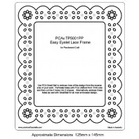 PCA EasyEmbossing Template Eyelet Frame TP5001PP