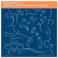 LINDA WILLIAMS' GROOVI CONTOURS - SWIRLS - A5 SQUARE GROOVI PLATE 41989
