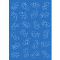 Vellum paisley blauw 62533