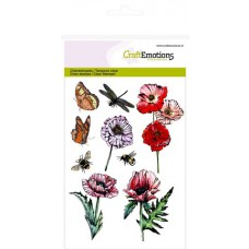 Clear Stamp Poppy Fields Butterfly A6
