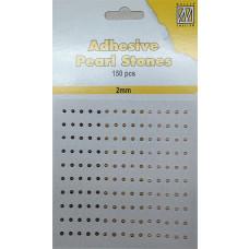 Plakparels / Adhesive gems lila paars 2mm