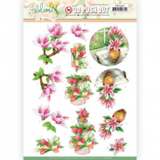 3D Push Out - Jeanine's Art Welcome Spring - Pink Magnolia 10530