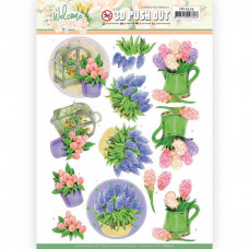 3D Push Out - Jeanine's Art Welcome Spring - Hyacinth 10529
