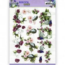 3D Knipvel - Precious Marieke - Beautiful Garden - Pigeon 11638