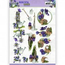 3D Knipvel - Precious Marieke - Beautiful Garden - Butterfly 11636