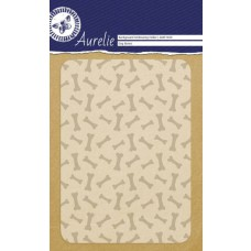 Aurelie embossing folder hondenkluif achtergrond
