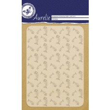 Aurelie embossing folder vissengraat achtergrond