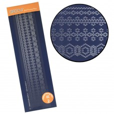 Groovi Plate Diagonal Border Pattern Piercing Grid 2