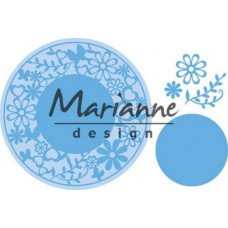 Marianne D Creatable Flower Frame rond LR0574 16x18.5 cm