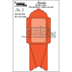 Crealies Aparto no. 2 - Mini Message 2 CLAP02 / 29x47mm - 47x121mm