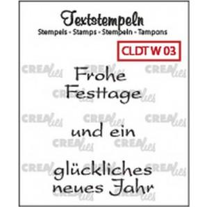 Crealies Clearstamp Tekst (DE) Weihnachten 03 max 33mm  / CLDTW03 (10-16)