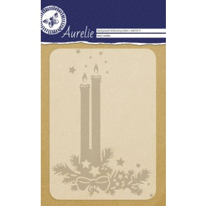 Aurelie embossing folder Holy Candles  Background
