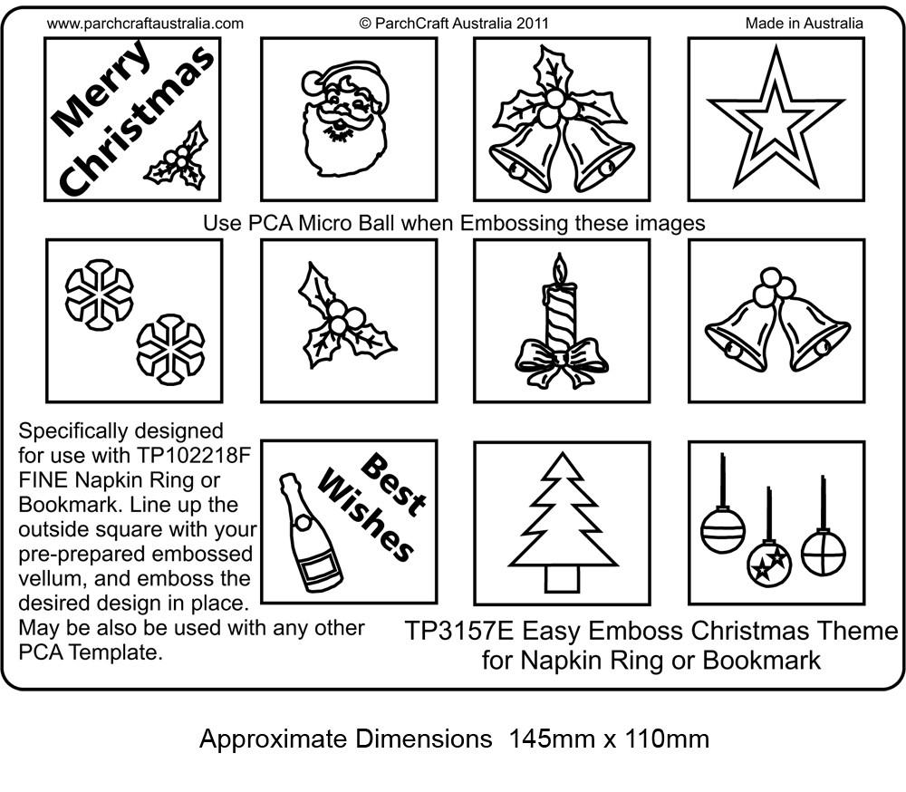 Pca easyembossing romance theme for napkin ring or bookmark tp3156e pca easyembossing christmas theme for napkin ring or bookmark tp3157e maxwellsz