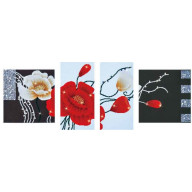 DIAMOND DOTZ Art deco Poppies DD14.002