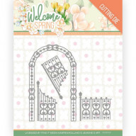 Dies - Jeanine's Art Welcome Spring - Arch and Fence
