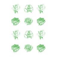 Vellum 90gr roses green 62552