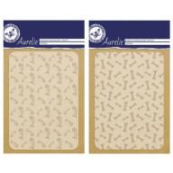 Discount embossing folders fish bones and dog bones