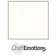 CraftEmotions linnenkarton 10 vel gebroken wit LHC-04 A4 250gr