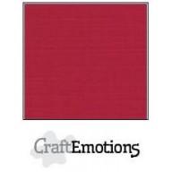 CraftEmotions linnenkarton 10 vel kerstrood LHC-07 A4 250gr