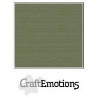 CraftEmotions linnenkarton 10 vel legergroen A4 250gr