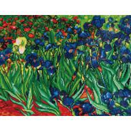 DIAMOND DOTZ Irises (Van Gogh) FUUL PAINTING DD13.007