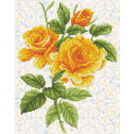DIAMOND DOTZ Yellow Rose Bouquet DD6.008