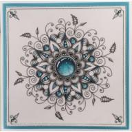 Gerti Hofman Design, Turquoise Gem Stones in Zentangle