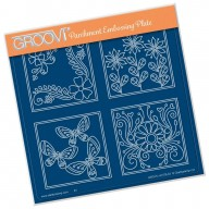 Groovi Plate  SUMMER LAYERING SQUARES  A5