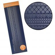 Groovi Plate Straight Border Pattern Piercing Grid 2