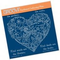 Groovi Plate A5 GARDEN HEART