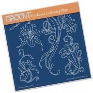 Groovi Plate Jayne's Trumpet Lilies