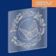 Groovi Plate Butterfly Wreath