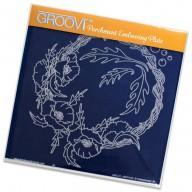 Groovi Plate Poppy Wreath