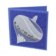 Pakket Kerstkaart met Groovi Plate Happy Christmas Bauble Blauw