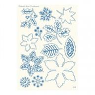 Parchment Lace Parchment Grid 14 Winter Flowers