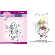 CLEAR STAMP A6  CHRISTMAS POPPETS - PEARL
